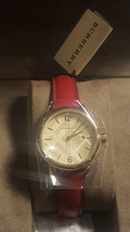 NWT *AUTHENTIC* Burberry BU10102 Women's Swiss Red Leather Strap Watch image 8
