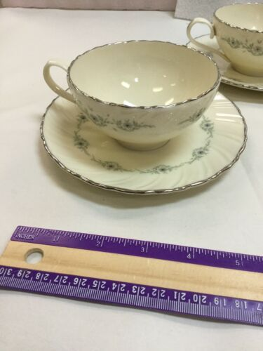 Musette By Lenox Pattern F507 3 Cup and 3 Saucer image 2