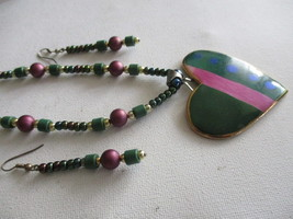 Artisan Necklace & Earrings Set  - $20.00