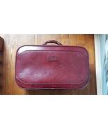 Verdi Burgundy Leather Suitcase - $29.69