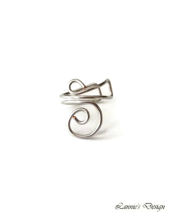 Silver Ear Cuff, Simple Cartilage No Piercing Earrings