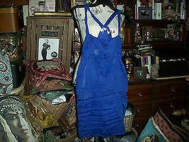 ANTHROPOLOGIE TRINITY  Charming Navy Blue Silk Blend Dress Size S - $21.78