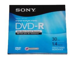 New Sony Handycam Dvd R 3 Pack Single Sided Monoface 30 Min. 1.4 Gb - $15.00