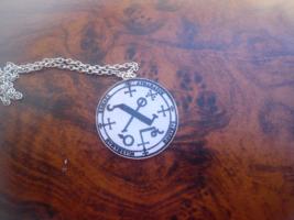 Archangel Chamuel Seal pendant.Heart Chakra, Pink Ray, strengthen, heart... - $22.22