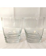 Set of 2 Southern Comfort Bar Glasses Tiered Square Base Logo - $26.72
