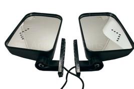 Golf Cart LED Turn Signal Mirrors Adjustable Universal Ezgo Club Car Yamaha - $64.67