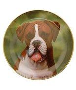 Danbury Mint Boxer Dog plate by Simon Mendez Say Aah CP2282 - $29.68