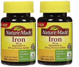 Nature Made Iron 65 mg Tablets 2 Bottle Pack - $17.77