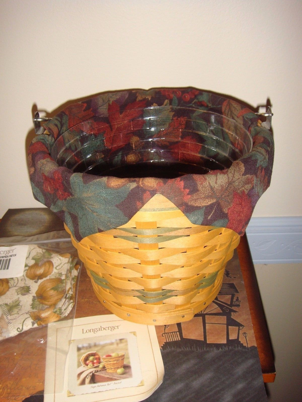 Primary image for Longaberger 2002 Sage Autumn Pail Basket Combo