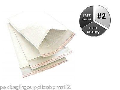"200 14.25"" x 20"" USA White Kraft Bubble Mailer #7 Padded Envelope Mailing Bags"