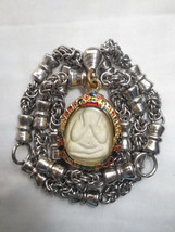 So Rare! Holy Phra Pidta LP Tuoh with Big Necklace Magic Thai Buddha Amulets - $39.99