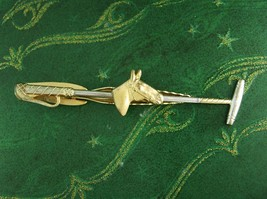 Horse Tie clip Equestrian  Polo Stick Mllet Racing pony Sports Athletics Competi - $85.00