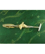 Horse Tie clip Equestrian  Polo Stick Mllet Racing pony Sports Athletics... - $85.00