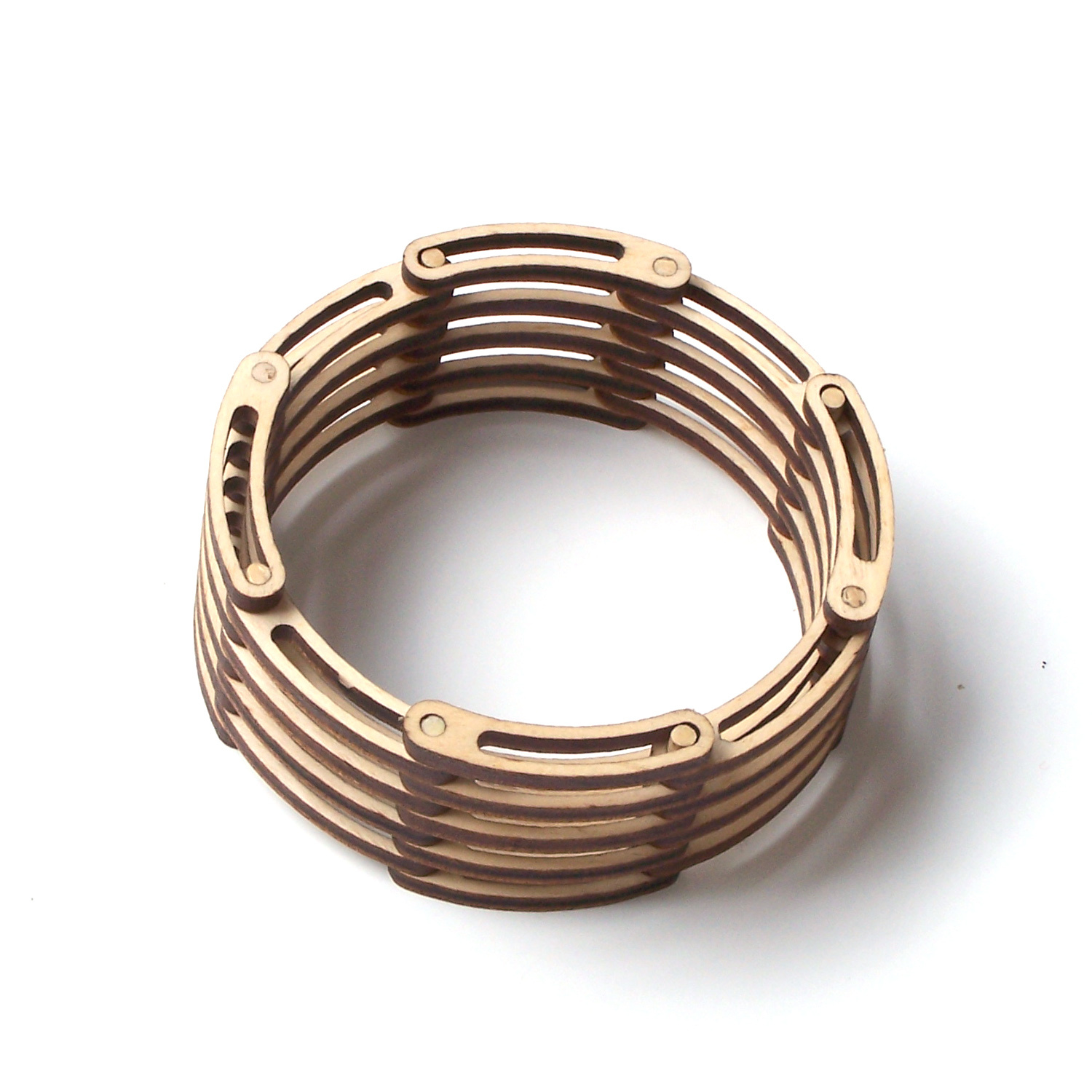 Contemporary wooden bracelet links 1