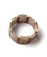 Unique flexible, shrinkable laser cut wooden bracelet - Links - €42,73 EUR