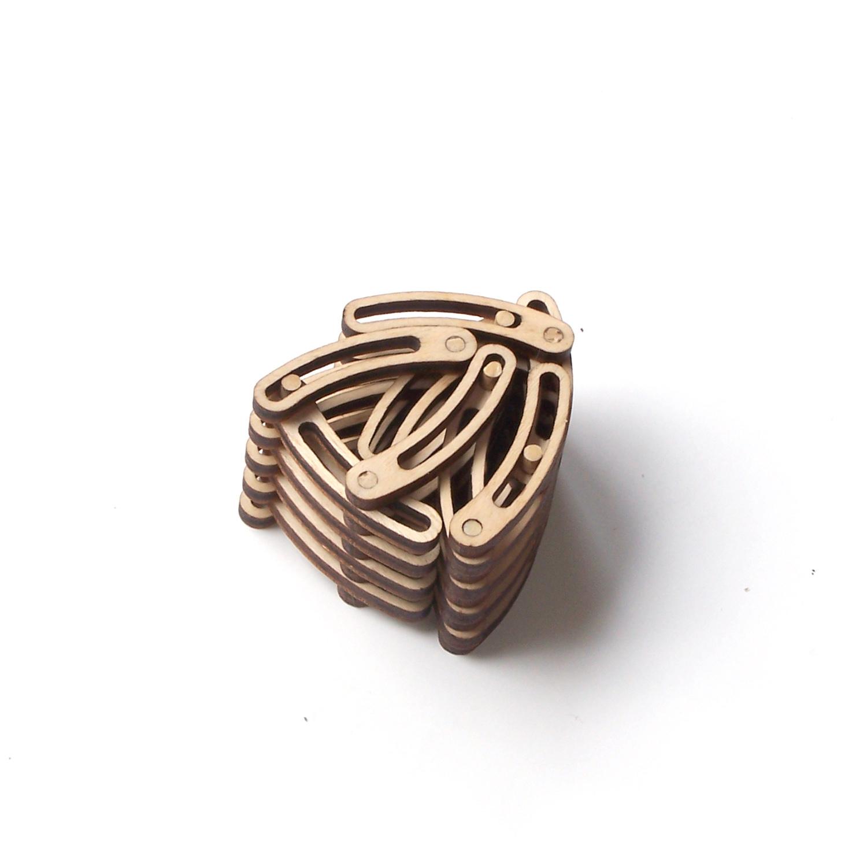 Unique flexible, shrinkable laser cut wooden bracelet - Links