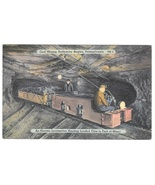 Coal Mining Anthracite Region PA Electric Locomotive Hauling Loaded Cars... - $4.99