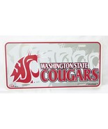 Collegiate licensed washington state cougars license plate tag sign hard... - $12.86