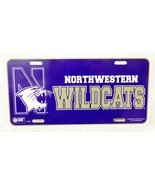 Collegiate licensed North Western Wildcats license plate tag sign hard p... - $12.86