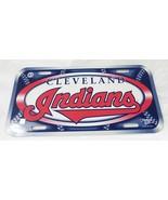 MLB licensed cleveland Indians base ball license plate tag sign hard pla... - $12.86