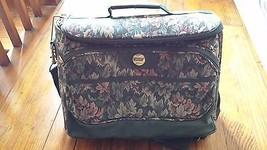 Vintage Luggage Carry On Bag  Samsonite Flower Tapestry - $15.83