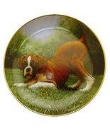 Danbury Mint Boxer Dog plate by Simon Mendez Bottoms Up CP2283 - $29.68