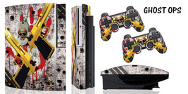 Skin Decal Wrap for PS3 1-2 Original Black Fat Playstation Cod Console GHOST OPS - $13.82