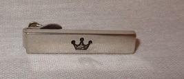 Vintage Swark Tie Clip Stick Bar Crown Silver Tone - $24.20