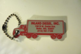 old advertising Inland Diesel,Inc trucking company ,Butler Wis,vtg keychain - $14.25