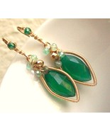 The Lady in Green Earrings - $85.00