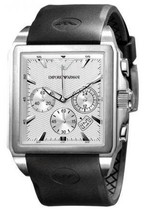 EMPORIO ARMANI AR0657 - MENS RUBBER STRAP CHRONO DESIGNER WATCH - $235.84