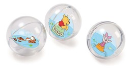 DISNEY WINNIE THE POOH FLOATING BATH TUB TUMBLER BALLS 3 PACK NIP Sealed - $11.52