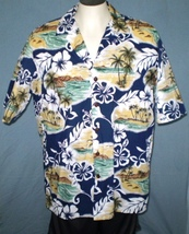 Hilo Hattie XL Button Down Hawaiian Shirt with Pocket Floral Islands Pal... - $25.00