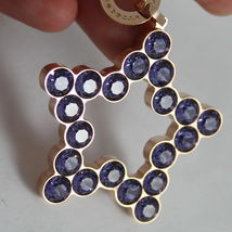 ROSE BRONZE REBECCA NECKLACE BIG STAR WITH PURPLE CRYSTAL CT 20.00 MADE IN ITALY image 6
