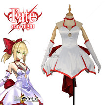 Fate ZERO Grand Order Nero Saber Tee Slip Dress Uniform Outfit Cosplay C... - $45.99