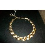 "12- 15"" Lisner Choker Necklace - Brilliant Gold Tone - $20.00"
