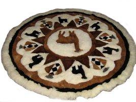 Alpakaandmore Original Peruvian Alpaca Fur Rug Round Different Sizes (140 cm ... - $269.28