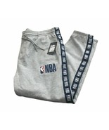 New NBA Jogger Sweat Pants Comfort Fit Elastic Waist Net Dry NBA Logo St... - $57.95