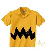 Medium Kid Retro Charlie Yellow Zig Zag kids bo... - $14.99