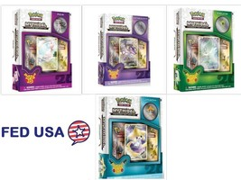 POKEMON Collection Pin Box (4): Mythical CELEBI, GENESECT, Mythical MEW,... - $94.99