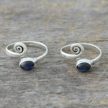 Labradorite Solid 925 Sterling Silver Toe Rings Handmade Jewelry mi4541 - $15.54