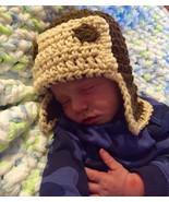 Infant crochet aviator hat - $12.00