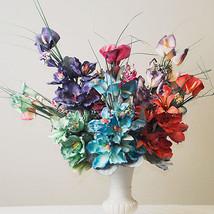 Latex Magnolia Lily Artificial Flower Bouquet Party Floral Arrangement 1... - $47.98