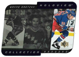 An item in the Sports Mem, Cards & Fan Shop category: 1996-97 Wayne Gretzky Upper Deck Holoview Collection - New York Rangers