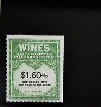 1951-4 $1.60 4/5 U.S. Internal Revenue Cordial & Wine, Green Scott RE196... - $9.55