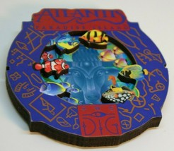 Atlantis Paradise Island Fish Tropical Aquarium Round Collage Magnet the D G image 1