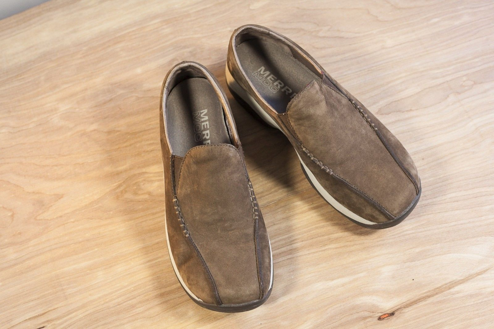 Merrell Primo Seam Moc 9 Brown Suede Women's Slip On Shoe DK Taupe