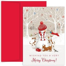 Snowman And Friends Holiday Cards With Red Envelopes - 36 Pack - $45.98