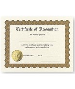 Certificate of Recognition - Pack of 12 - $19.99