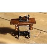 Dollhouse Miniature Sewing Machine in furniture mini Doll House - $9.90